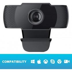 Cámara Web COOAU 1080P Webcam con Micrófono, Computadora Portátil PC Webcam de Escritorio USB 2.0 para Videollamadas