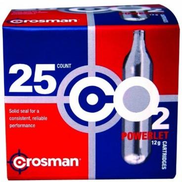 Crosman 12 Gram CO2 Cartridges (Pack of 25)