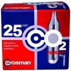 Cartuchos Crosman 12 Gramos CO2 (Caja de 25)