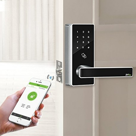 ZKTeco DL30B Bluetooth Enabled and Touchscreen Keyless RFID Smart Door Lock+5 pcs RFID Cards(Zinc Alloy).