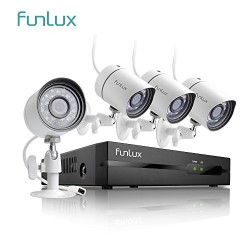 Funlux 4 Channel 1080p HDMI NVR Simplified PoE 4 720p HD Outdoor Indoor Security Camera System No Hard Drive