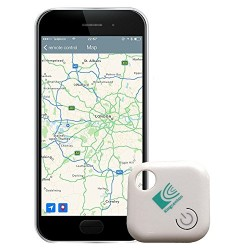 Kingcenton (Gen 2) Phone Finder with Bluetooth Remote Control, Key Finder, Mini GPS Locator Tracking Device [0-30 M Anti-lost An