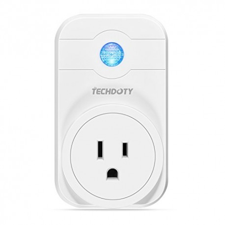 WiFi Smart Plug, TECHDOTY Wi-Fi Enabled Smart Socket Outlet US Plug Compatible with Alexa and Google Home, Night Lights Lamp Rem