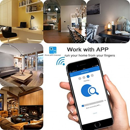 Cbin Wi-Fi Smart Light Socket ,Screw E26 Light Socket Bulb Base Adapter Converter, Phone APP Remote Control Your Fixtures From A