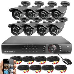 Best Vision 16CH 4-in-1 HD DVR Security Camera System (1TB HDD), 8pcs 1080P High Definition Outdoor Cameras with Night Vision -