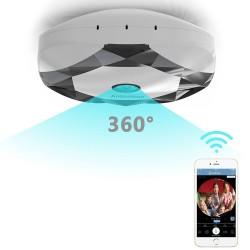 Cámara domo con visión nocturna detección de movimiento y 360 grados