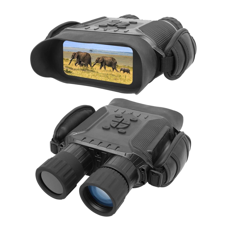 Braveking1 Prism/áticos Visi/ón Nocturna Digital HD Infrarrojo Caza Binoculares 4X3 Zoom Alcance Visual de 984 ft//300M C/ámara Infrarroja con Pantalla LCD de 2.3 y Tomar HD Fotos//Video con Tarjeta 32GB
